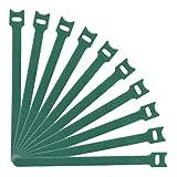 YHNHT Bridas reutilizables para cables de sujeción, 10.2 pulgadas para plantas de jardín, correas de tela de microfibra para gestión de cables, organizador, lazos de alambre