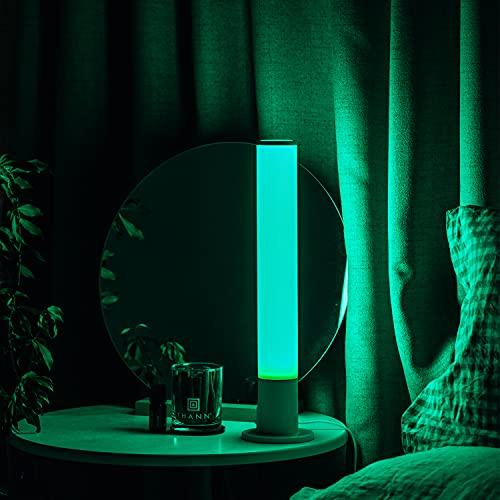 YHYYU RGB LáMpara De Mesa, LáMparas De Escritorio, LáMpara De Mesita De Noche Inteligente, IluminacióN Interior, Regulable, PortáTil, Cambio De Color Rgbw para NiñOs, Dormitorio, Camping