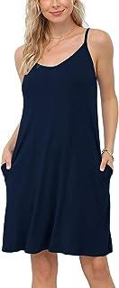 Viishow Women's Long Sleeve Casual Loose T-Shirt Dresses Pocket
