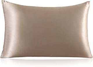 Best ZIMASILK 100% Mulberry Silk Pillowcase for Hair and Skin,with Hidden Zipper,Both Side 19 Momme Silk,600 Thread Count, 1pc (Queen 20