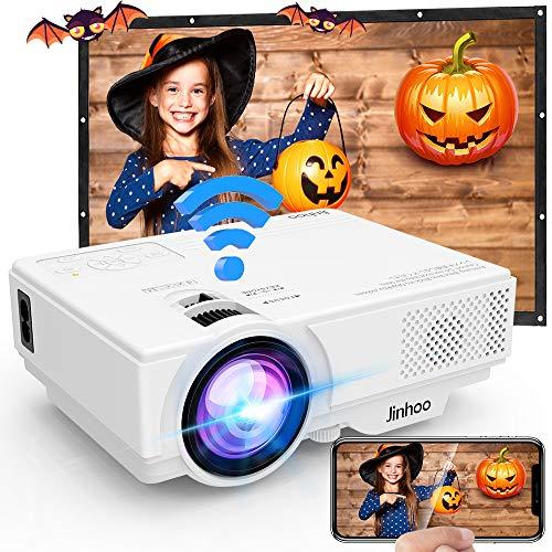 Proyector, Proyector Wifi, Mini Proyector 5500 Lúmen Soporta 1080P Full HD, Proyector Nativo 720P Compatible con TV Stick...