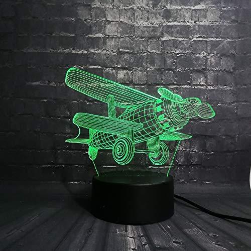 Suhang 3D LED nachtlampje sfeerverlichting kinderkamer lamp USB slaaplicht 7 kleurverandering touch kerstbasis Touch 7 Color Change