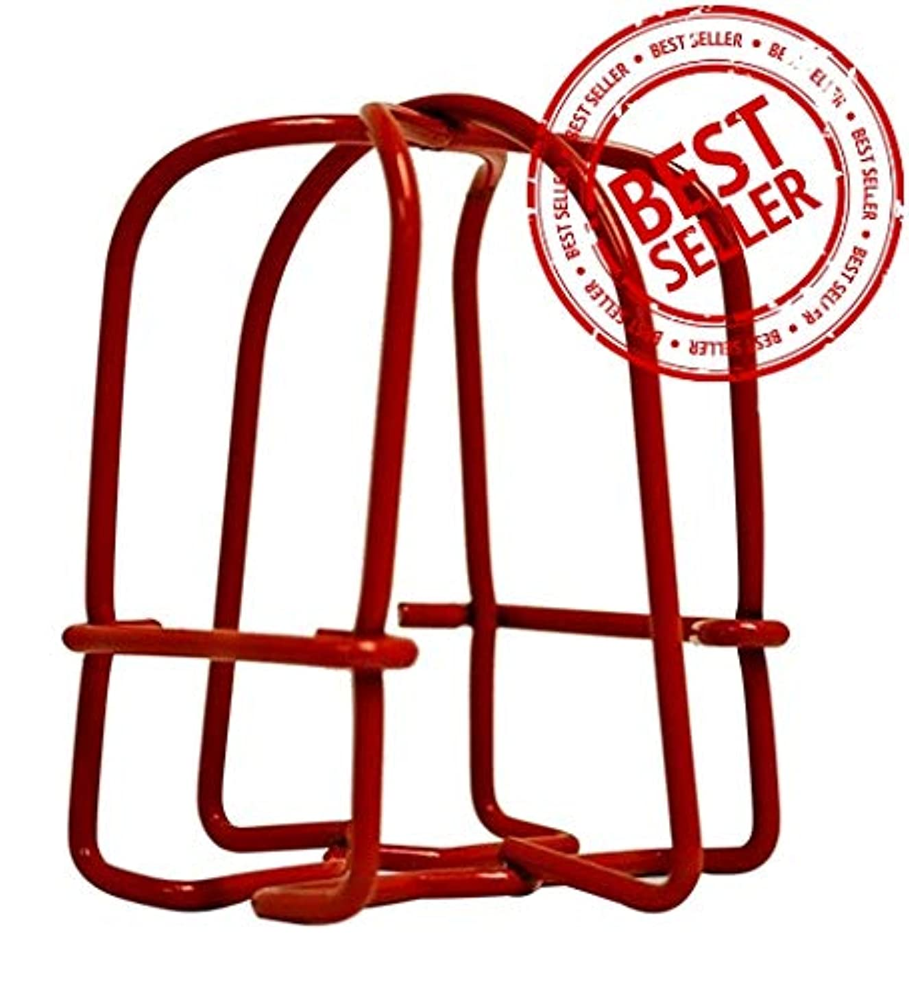 (10 Pack) Greatest Fire Sprinkler Head Guard Red Plated Easy Screw Cover Guard for 1/2'' IPS Pendent & Upright & Horizontal Sidewall Head - Double Hook