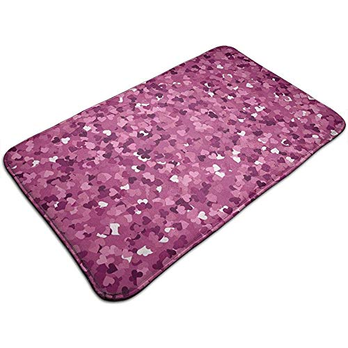 Liumt Pink Pailletten patroon Vloermatten Decoratieve anti-slip badmat 40cm * 60cm