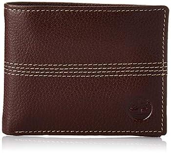 Timberland mens Sportz Quad Leather Passcase Wallet Sportz Quad Leather Passcase Wallet Brown  Quad Stitch  One Size