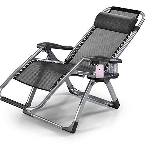 Silla Tumbona reclinable Plegable Portable diseñador Ocasional de Aluminio Multifuncional Moderna for Balcón Jardín Gris xiuyun
