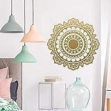 JZYIH Mandala budismo etiqueta de la pared para sala de estar pegatinas de vinilo extraíbles decoración de la casa mural papel pintado