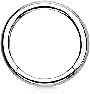 14G-16G Titanium Hinged Seamless Body Piercing Hoop (Sold Individually)