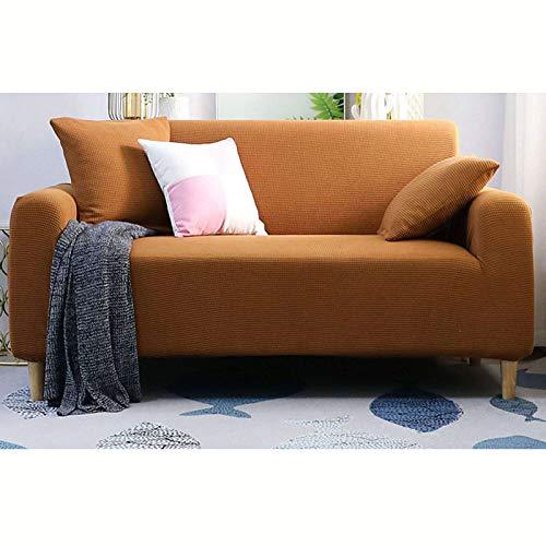 GOPG Funda elástica impermeable, suave, antideslizante, transpirable, fácil de limpiar, para sofá, funda protectora de muebles para sala de estar, infantil, gato, perro, H-1 asientos de 90-140 cm