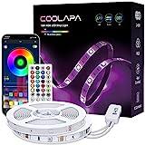 10M Tira LED, COOLAPA RGB Luces LED, Iluminación de ambiente, Sync con Música, 5050 12V Tiras LED, Control Remoto de 40 Teclas, para Decoración de Casa, Jardín, Fiesta