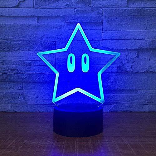 Lonfencr Lámpara de escritorio para decoración de la habitación de la estrella Control remoto para sala de estar cama decoración lámpara 16 colores cambiantes USB carga inteligente táctil
