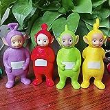 4PCS Lindo Kawaii Teletubbies Modelo de PVC Muñecas Figura de acción Dibujos animados Silicone Vinyl Doll Ornamentos de estatuilla Juguetes para Chidlren