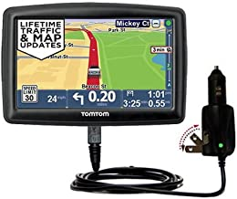 Unique Gomadic Car and Wall AC/DC Charger Designed for The Tomtom Start 45 45M 45TM 55 55M 55TM – Two Critical Functions, One Great Charger (Includes Gomadic TipExchange)
