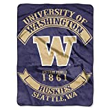 The Northwest Company Unisex 'Rebel' Raschel Throw, Washington Huskies, 60' x 80'