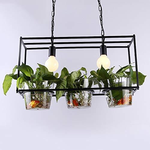 Selmal Nordic licht plantenoorbellen, creatieve glazen druppels, oorbellen met groene plant, voor eetkamer, kantoor, boeken, decoratie, groen