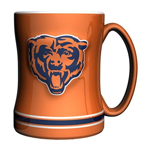 Boelter Brands NFL Chicago Bears Sculpted Relief Mug Alternate Color, 14-Ounce, Orange