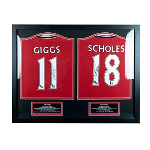 Manchester United F.C. Giggs And Scholes Réplique du maillot dédicacée de Ryan Giggs Paul Scholes