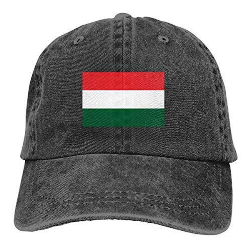 Ungarn Flagge Cap Baseballmütze Verstellbar Schwarz