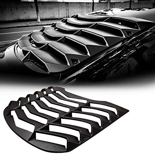 CUMART Rear Window Louvers Windshield Sun Shade Cover Lambo Style Matte Black Compatible with Ford Mustang 2015 2016 2017 2018 2019 2020