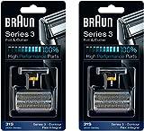 Braun Cortador y 31S 5000/6000 Series contorno Flex XP Integral lámina cabeza recambio Combi Pack, cuenta 2