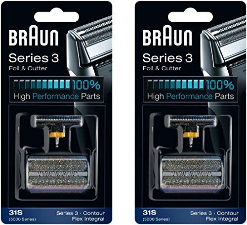 Braun 31 s série 5000/6000 Contour Flex XP Integral rasoir rasage tête de rechange Combi Pack, 2 comte