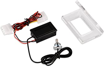 Termómetro Digital PC Ordenador Detector de Temperatura de Enfriamiento de Agua Impermeable Sensor de Sonido Acuario Coche Agua PC Caso Temp Meter(Dial)
