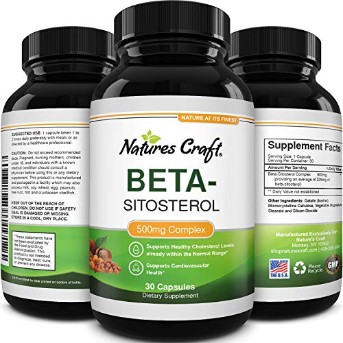 Natures Craft Pure Beta-Sitosterol Supplement for Prostate Health Urinary Tract Health Better...