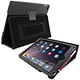 Snugg iPad 3 & 4 Case - Smart Cover with Flip Stand (Black Leather) for Apple iPad 3 and 4