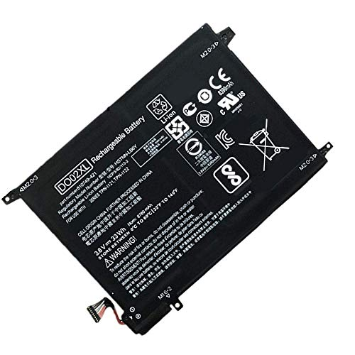 WXKJSHOP Batería de repuesto compatible con HP Pavilion X2 10 TPN-I121 TPN-I122 Series Notebook HSTNN-LB6Y 810985-005 Black 3,8 V 33 Wh