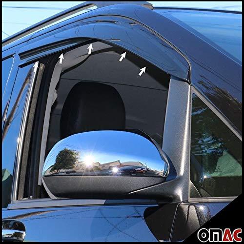 OMAC Front Side Door Window Smoke Air Rain Ventvisor Wind Deflector Guard Window Visors 2 Pcs forMercedes Metris W447 2014-2020