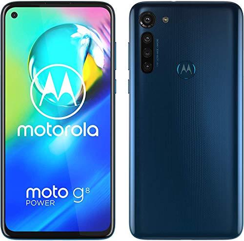 Motorola Moto G8 Power - Teléfono móvil (64 GB, Android 10), Color Azul/Capri Blue