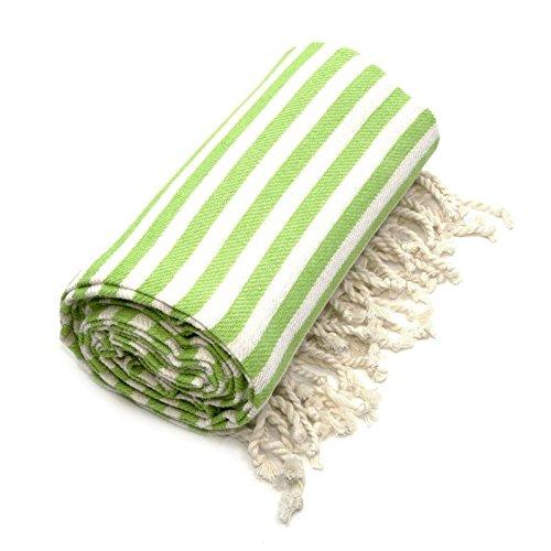 Linum Home Textiles Fun au Soleil Fouta/Serviette Fouta, Vert Pistache, 72\