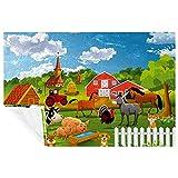 BestIdeas Manta de animales de granja de cerdo de vaca de caballo de burro, suave, cálida y acogedora manta para cama, sofá, picnic, camping, playa, 150 x 100 cm