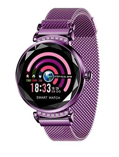 Hunterace Smart Armbanduhr Fitness Tracker Weiblich Excelusive Circadian Pulsmessung Sport Armband-Lila