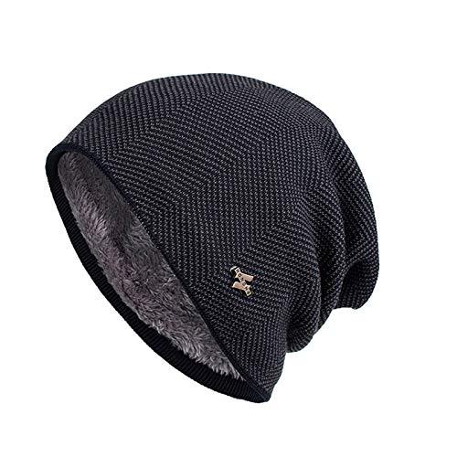 HDDDMZ hoed, unisex hoed muts modieus grijze winter warme dikke zachtloze outdoor comfortabel ademend stretch mutsen