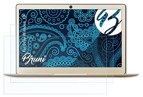 Bruni Schutzfolie kompatibel mit Odys Winbook 13 Folie, glasklare Bildschirmschutzfolie (2X)