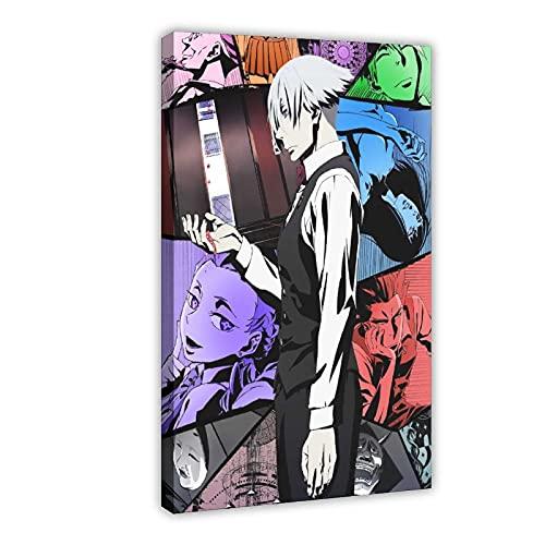 Poster du manga Death Parade 8 sur toile pour décoration murale de salon, chambre à coucher 50 x 75 cm