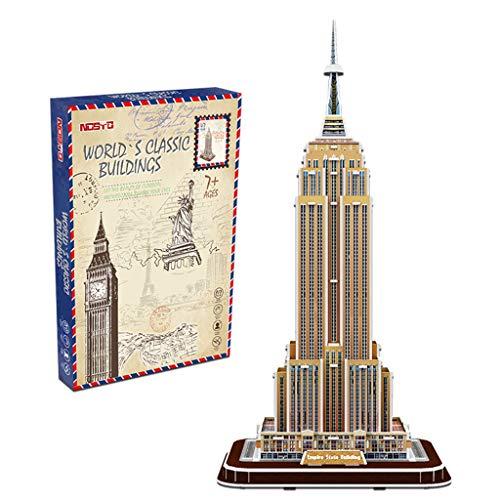 Puzzle 3D cdhgsh Empire State Building per Adulti e Adolescenti Puzzle 3D Modello New York Building