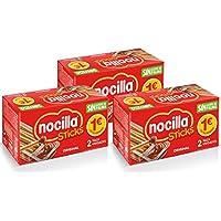 Sticks de Nocilla Original: crema de cacao natural con avellana y palitos de pan - Sin aceite de palma - 3 packs de 2 raciones de 30 gr - (Total 180 gr.)
