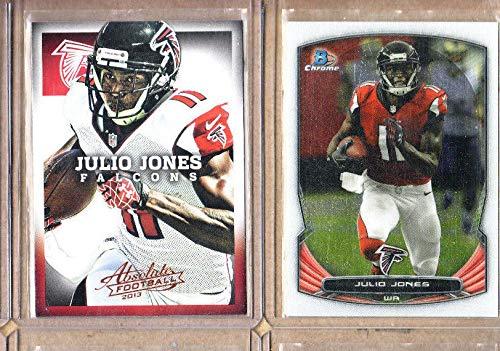 Julio Jones - 2 Card Lot-2014 Bowman Chrome+2013 Absolute Football-Mint-Falcons