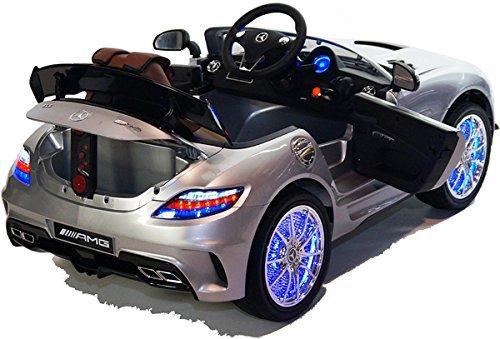 RC Auto kaufen Kinderauto Bild 5: Mercedes-Benz SLS AMG viele LED Effekte Soft Start Kinderauto Kinderfahrzeug Kinder Elektroauto (Grün)*