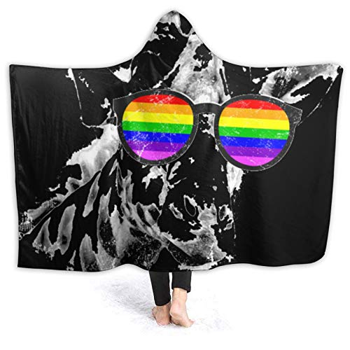 Rain-Bow P-Ride Blanket Hoodie | Oversized Wearable Blanket Deluxe Sweatshirt Blanket