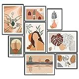 GREAT ART® Ensemble d'affiches Art abstrait | 8 Décoration de collage d'art mural modern...