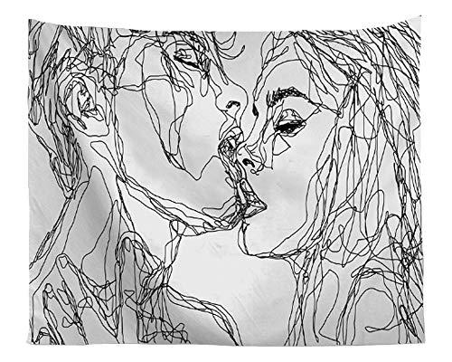 TOKYMOON Wandteppich Abstrakte Kunst Wandteppich Psychedelic aus Polyester Hausdekor Morden Deko Tuch Wandtuch Wandbehang Tapisserie Wandkunst Hängende Decke Dekoration Weiß 200 x 150cm