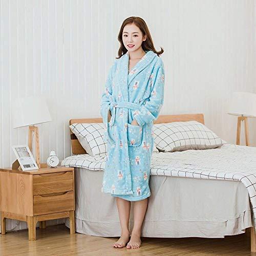 Handaxian Flanell Pyjama Frauen neuen Bademantel Herbst und Winter Robe Home Service