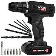 This handy 18V li-ion cordless drill with a 13 piece accessory kit is a superb multi-purpose DIY drill for use around the home and garden with built-in powerful LED work light Drills smoothly into wood, metal and more with a powerful speed of 650RPM,...