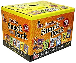 Utz Snack Variety Pack (Pack of 42) Individual Snacks, Includes Potato Chips, Cheese Curls, Popcorn, and Party Mix, Crunch...