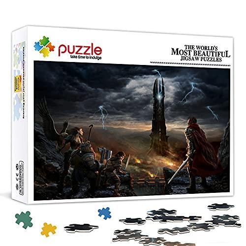 Rompecabezas de 500 piezas para adultos El señor de los anillos La batalla por la Tierra Media II es ideal como regalo para toda la familia y el rompecabezas