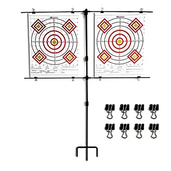 Highwild Adjustable Steel Paper Target Stand with 8 Clips