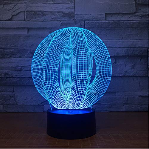 Abstrait 3D Led Lampe Lumière Usb Night Light Lampe De Lave Colorée Pour Le Mariage Innovante Bureau Party Decor Cadeau Présent Drop Ship